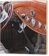 Ford V8 Dashboard Wood Print