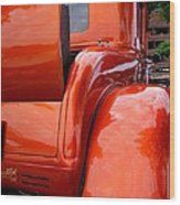 Ford V8 Rear View With Rumble Seat Wood Print