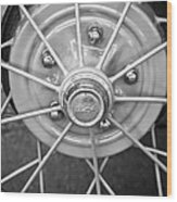 Ford Wheel Emblem -354bw Wood Print