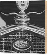 Ford Winged Hood Ornament Black And White Wood Print