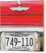 Ford With Minnesota Licence Plate Wood Print