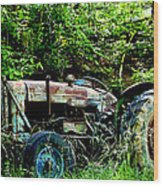 Fordson Major Diesel Wood Print by Robert J Andler