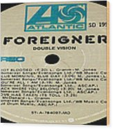 Foreigner Double Vision Side 1 Wood Print