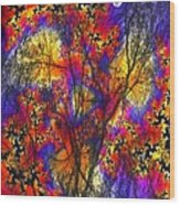 Forest Fire Wood Print