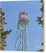 Forest Fire Watch Tower Steel Lookout Structure Wood Print