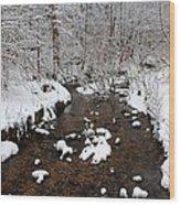 Forest Hill Creek Wood Print