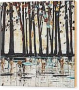 Forest In Abstract Wood Print