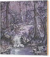Forest In Lavender Wood Print