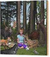 Forest Rendezvous Wood Print