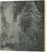 Forest Shore Wood Print