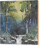 Forest Sun Wood Print