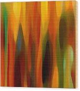 Forest Sunlight Vertical Wood Print
