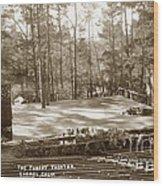 Forest Theater Carmel California  Circa 1930 Wood Print
