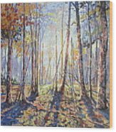 Forest Walking Wood Print
