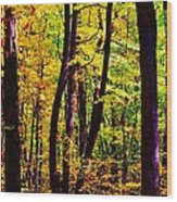 Forest Waves Wood Print