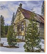 Forestcity School House Wood Print