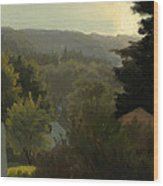Forested Hills Wood Print