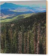Forested Volcanic Slopes Wood Print