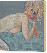 Forever Coquette Wood Print by Asha Carolyn Young