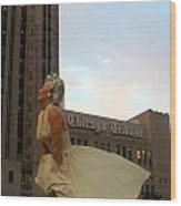 Forever Marilyn A-dresses The Chicago Tribune Wood Print by Matthew Peek