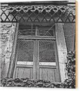 Forgotten Balcony Wood Print