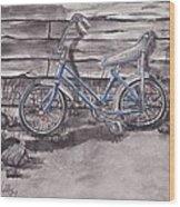 Forgotten Banana Seat Bike Wood Print