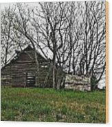 Forgotten Barn Wood Print by Sarah E Kohara