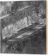 Forgotten Bench Wood Print