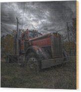 Forgotten Big Rig 2014 Wood Print