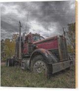 Forgotten Big Rig 2014 V2 Wood Print