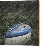 Forgotten Boat Wood Print