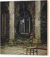 Forgotten Courtyard Wood Print