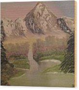 Forgotten Falls Wood Print