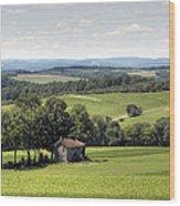 Forgotten Farmhouse In A Hot August Haze Wood Print