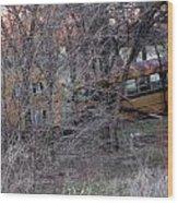 Forgotten Schoolbus Illinois Bend North Texas Wood Print