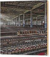 Forgotten Silk Mill Wood Print