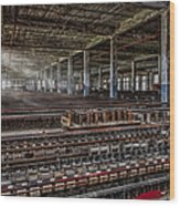 Forgotten Silk Mill Wood Print by Susan Candelario