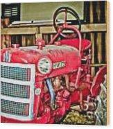 Forgotten Tractor Wood Print