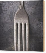 Fork Still Life Wood Print