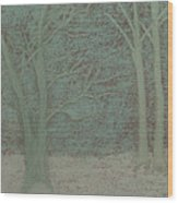 Forked Tree Wood Print