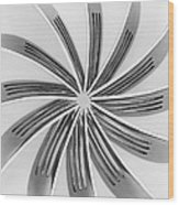 Forks Viii Wood Print by Natalie Kinnear