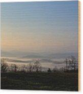 Forlorn Sunrise Wood Print