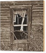 Forlorn Window Wood Print