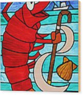 Formal Lobster Wood Print