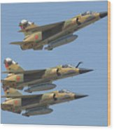Formation Of Royal Moroccan Air Force Wood Print