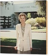 Former First Lady Betty Ford Posing Wood Print