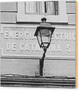 former headquarters of the energia electrica de cataluna raval Barcelona Catalonia Spain Wood Print
