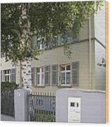 former home of Anne Frank Marbachweg Frankfurt am Main Germany Wood Print