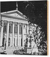 former national congress building Santiago Chile Wood Print