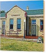 Former Rock Island Line Railroad Depot In Pipestone-minnesota Wood Print